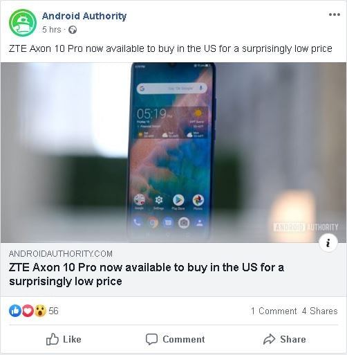 Advertising through Facebook