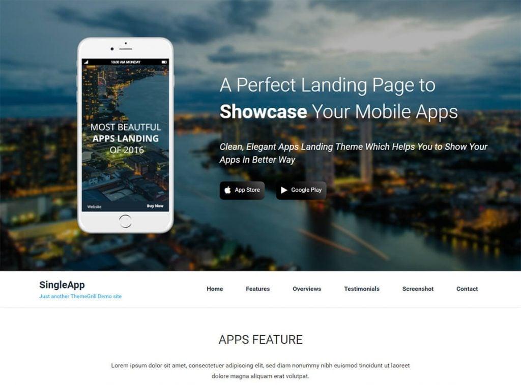 landing page theme