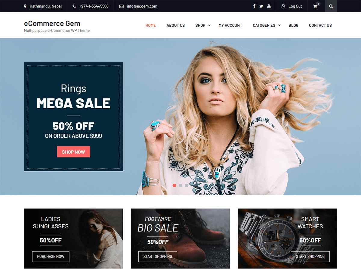 eCommerce themes for WordPress