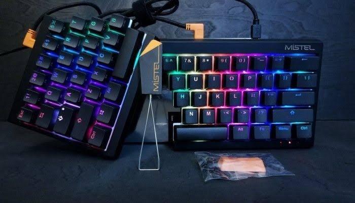 Mistel Barocco Ergonomic Split RGB Keyboard