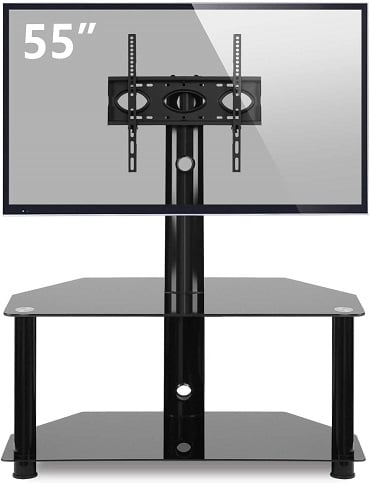 TAVR Glass Floor TV Stand