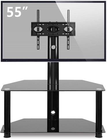 TAVR Glass Floor TV Stand