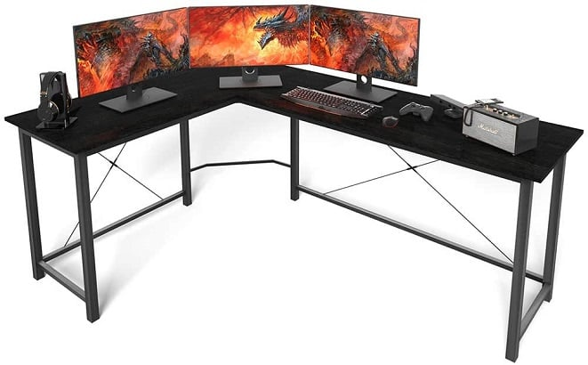 Coleshome L-shape Gaming Desk