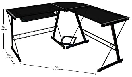 Walker Edison Furniture Company L-shape Gaming Desk