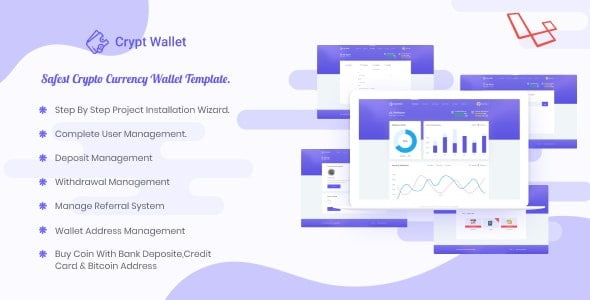 Cryptwallet - Cryptocurrency Web Wallet Pro